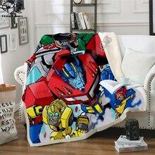 Kid Autobots transformation robot 3d Blanket Design Flannel Fleece Blanket Printed Children Warm Bed Throw Blanket Kids Blanket
