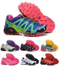 Salomon Speed Cross 3 CS Breathable Comfortable Walking Sneakers Speedcross 3 Light Running Women Shoes 36-41 Free Shipping
