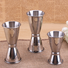 Professional Stainless Cocktails Double Head Crimping Round Measuring Cup Bar Tools