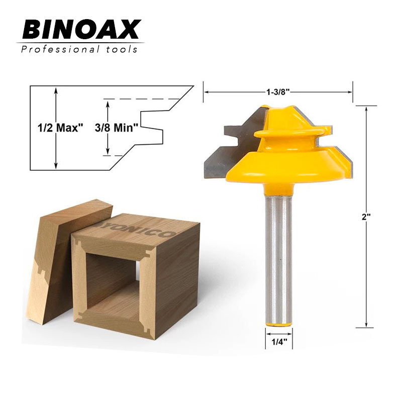 1/4 * 1-3 / 8 2 Bit Bit Tongue and Groove Router Bit Set ابزارهای برش چوبی