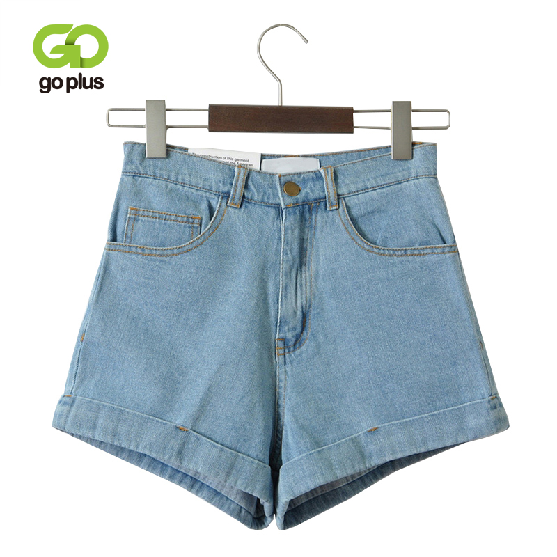 Vintage Denim Shorts Women High-Waist Rolled Hem Denim Shorts Girls Sexy Cuff Jeans Shorts Plus Size Girls' Street Wear C3627