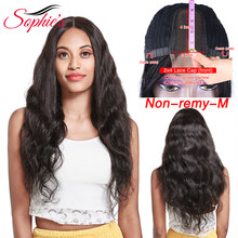 Brazilian 2*4 Lace Part Wig Body Wave Human Hair Wigs For Black Women Non Remy Natural Color Lace Wig with Baby Hair Sophie's(China)