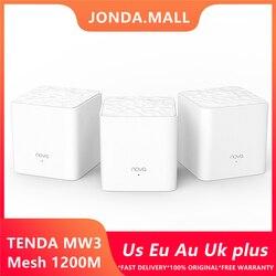 Enrutador Wifi inalámbrico Tenda Nova Mw3 AC1200 para todo el hogar de doble banda 2,4 Ghz/5,0 Ghz Wifi repetidor de malla WiFi sistema de aplicación remota administrar