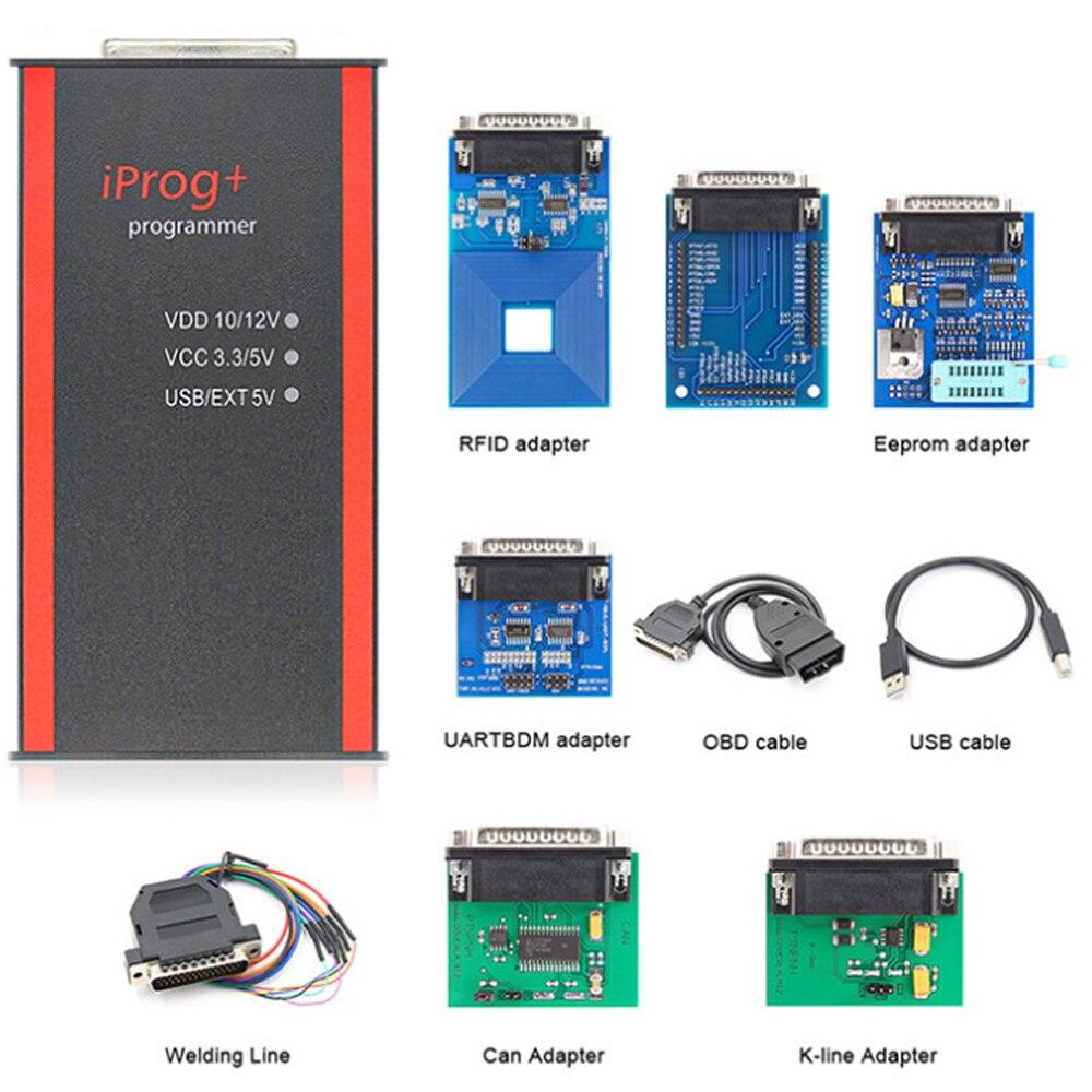 Pełna IPROG Pro 2019 ECU klucz programujący Iprog Plus V84 IMMO przebieg korekta przebiegu poduszka powietrzna Reset PK DIGIPROG 3 Carprog Tango