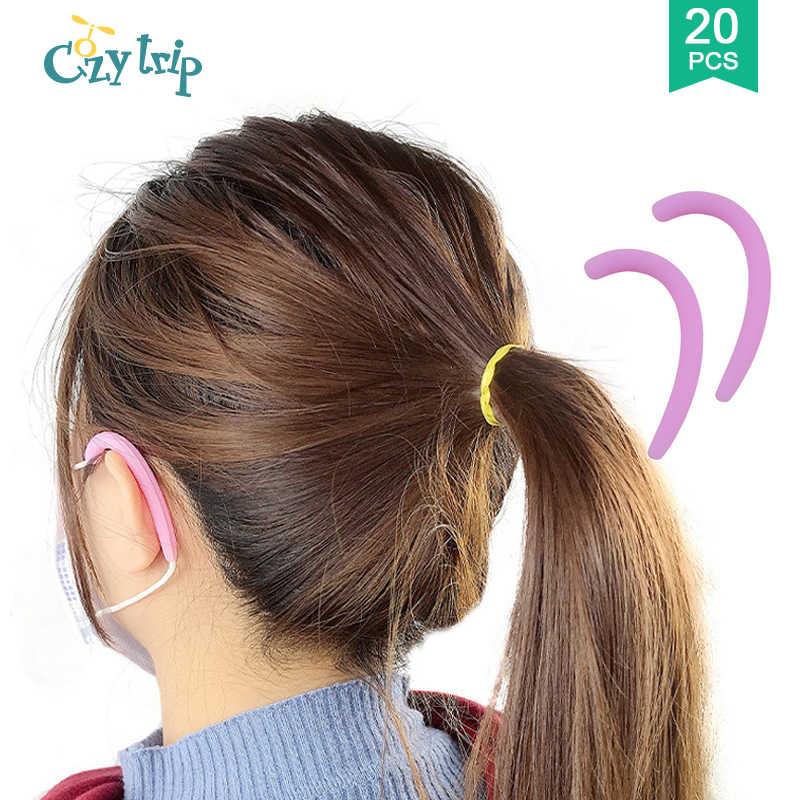 1-10 쌍 실리콘 귀 덮개 걸이 귀 보호 덮개 연약한 귀 보호자는 성인과 아이를위한 귀 고통을 완화한다