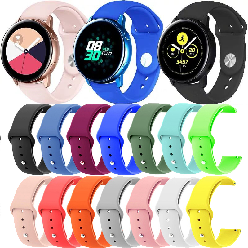 Silicone Sport Band Strap For Samsung Gear S3 Galaxy Active Watch 42 46mm Band Gear S3 Quick Release WatchBand 18mm 20mm 22mm