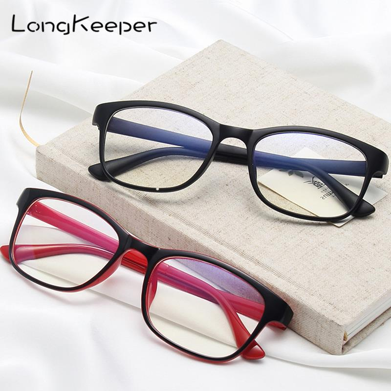 LongKeeper Fashion Transparent Square Glasses Clear Frame Women Spectacle Glasses Men Eyeglasses Frame Nerd Optical Frames Clear