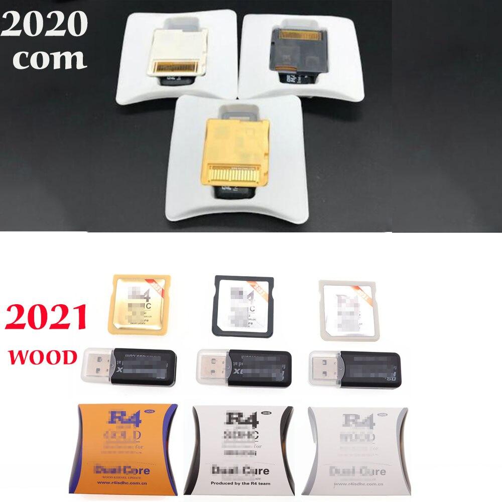 2021 2020 Новый R4 SDHC бело-золотые серебро видео карточная игра скачать самостоятельно с розничной коробкой (без карты памяти)