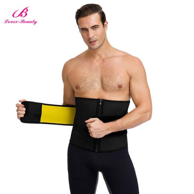 Lover-Beauty Men Waist Trainer Slimming Belt Latex Neoprene Two in One Body Shaper Cincher Tummy Trimmer Shapewear Fitness Strap 4