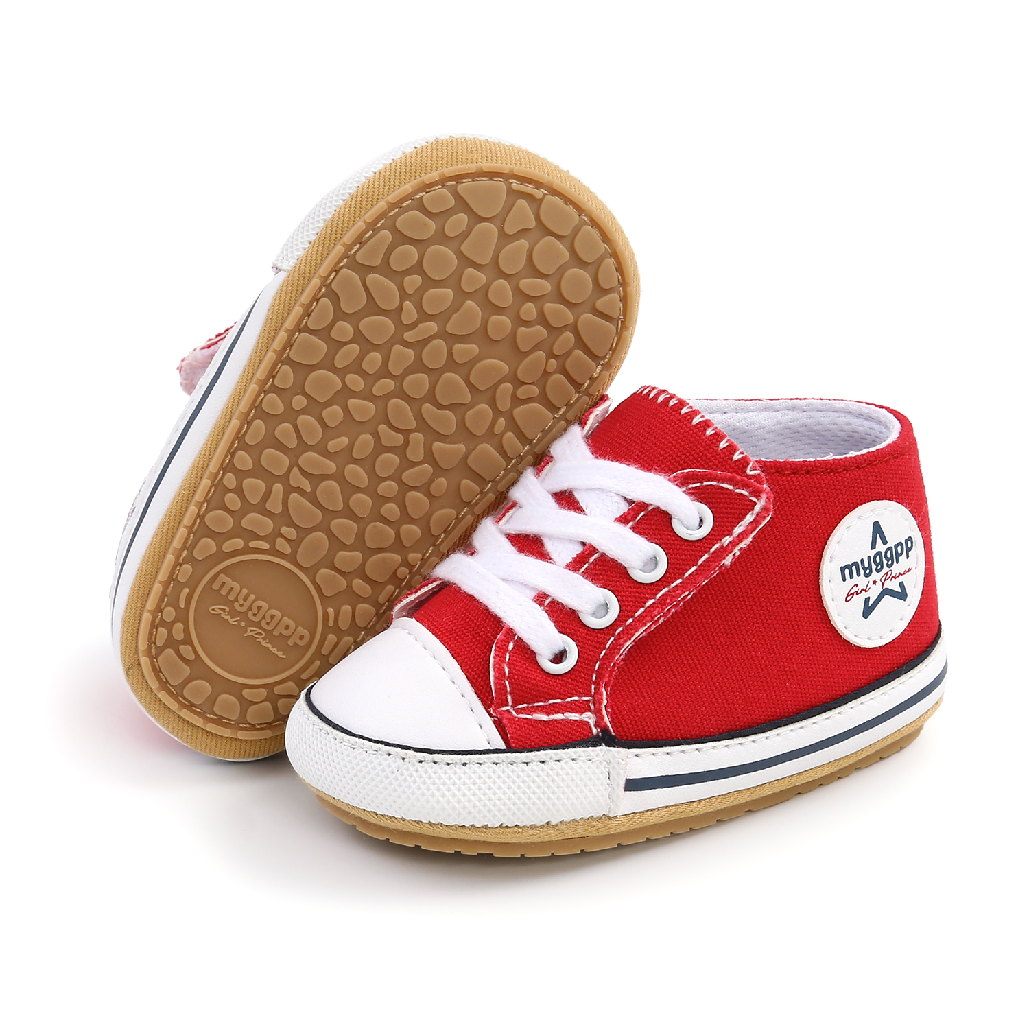 2021 New Classic Baby Canvas Shoes Toddlers Rubber Sole Moccasins Anti-slip Infant First Walkers Boys Girls Newborn Crib Shoes 6