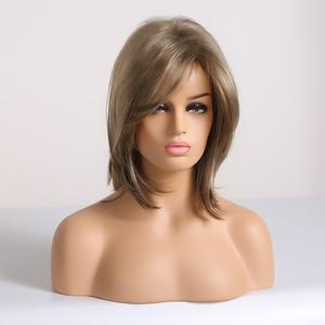 Image 2 - Easihair Korte Synthetische Pruiken Voor Vrouwen Blonde Bob Pruiken Gelaagde Natural Hair Cosplay Dagelijkse Pruiken Hoge Temperatuur Fiber Volledige Pruiken