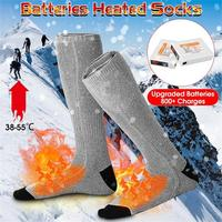 1 Pair USB Heated Socks Insoles Shoes Adjustable Temperature Foot Pad Feet Warmer Pad Mat Outdoor Sports Winter Warm
