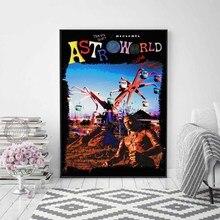 Travis Scott Astroworld New Custom Rap Music Singer Star Album Cover Poster Art Canvas Home Room Wall Printing Decor