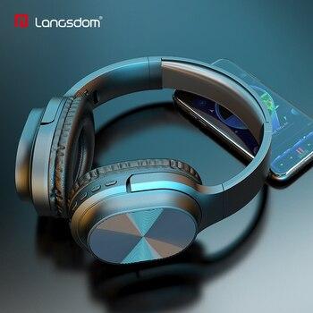 цена на Langsdom BT18 Bluetooth Headphones Over-Ear Wired&Wireless Headphone Stereo Headset Bluetooth auriculares with Mic TF MP3 FM
