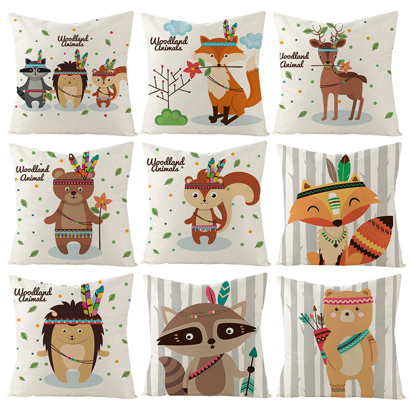 Woodland Animal Cushion Cover Woodland Animal Birthday Party Supplies Jungle Safari Birthday Party Decoration Kids Jungle Theme