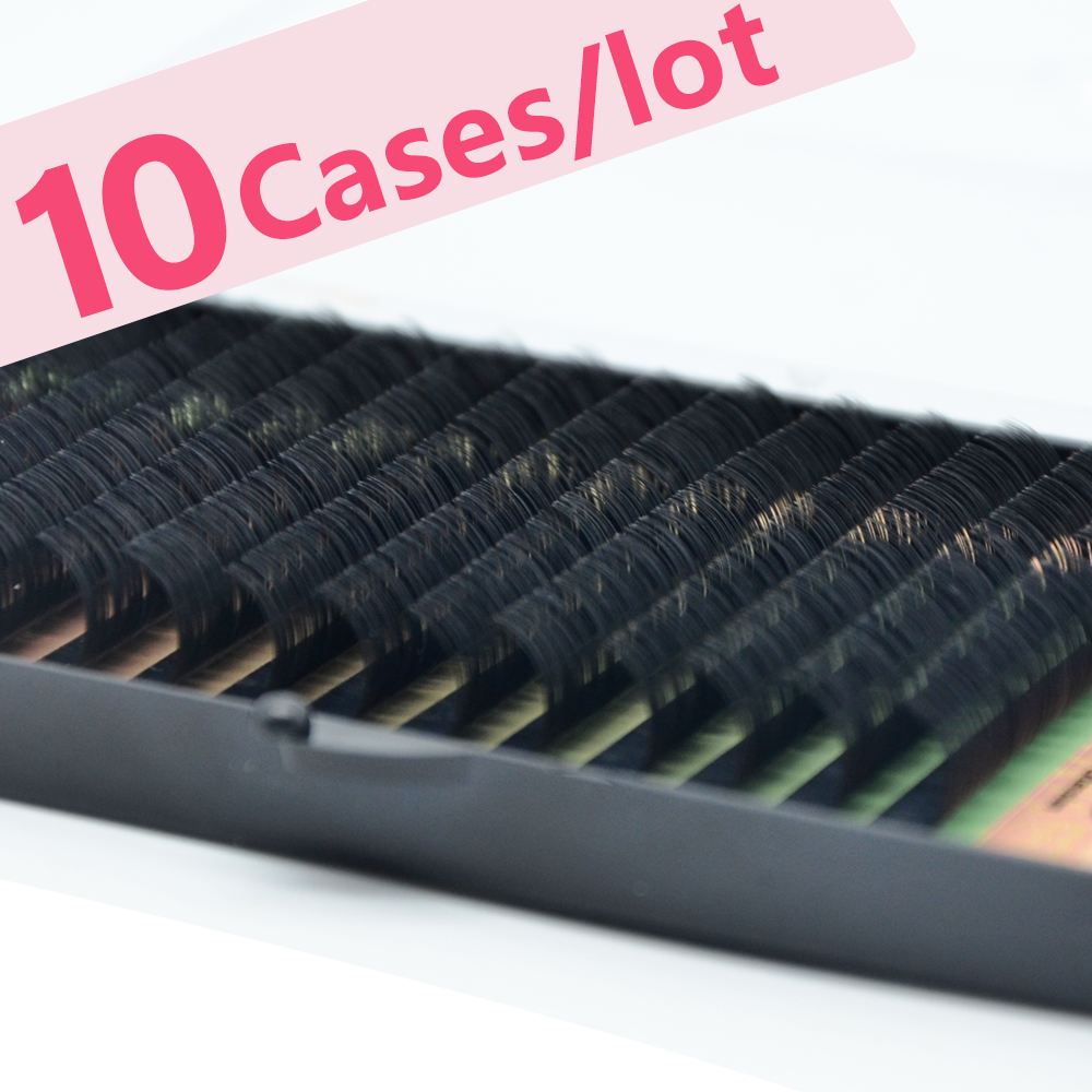 masscaku 3d vison cilios maquiagem maquiar 10 casos lote 16 linhas individuais cilios de alta qualidade