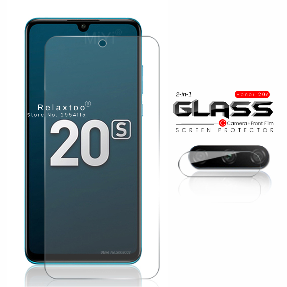 2-in-1 Glass On Honor 20s Protective Glass For Honor20s Huawei Honor 20 S S20 Global Endition Mar-lx1h Camera Lens Film 6.15''