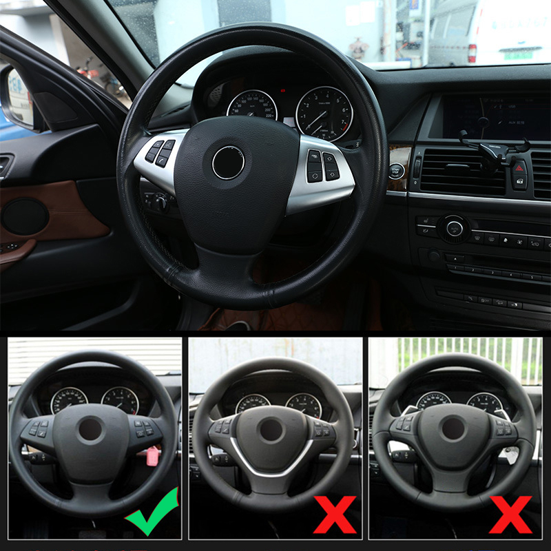 2 шт глянцевые черные кнопки на руль bmw x5 e70 x6 e71 2008