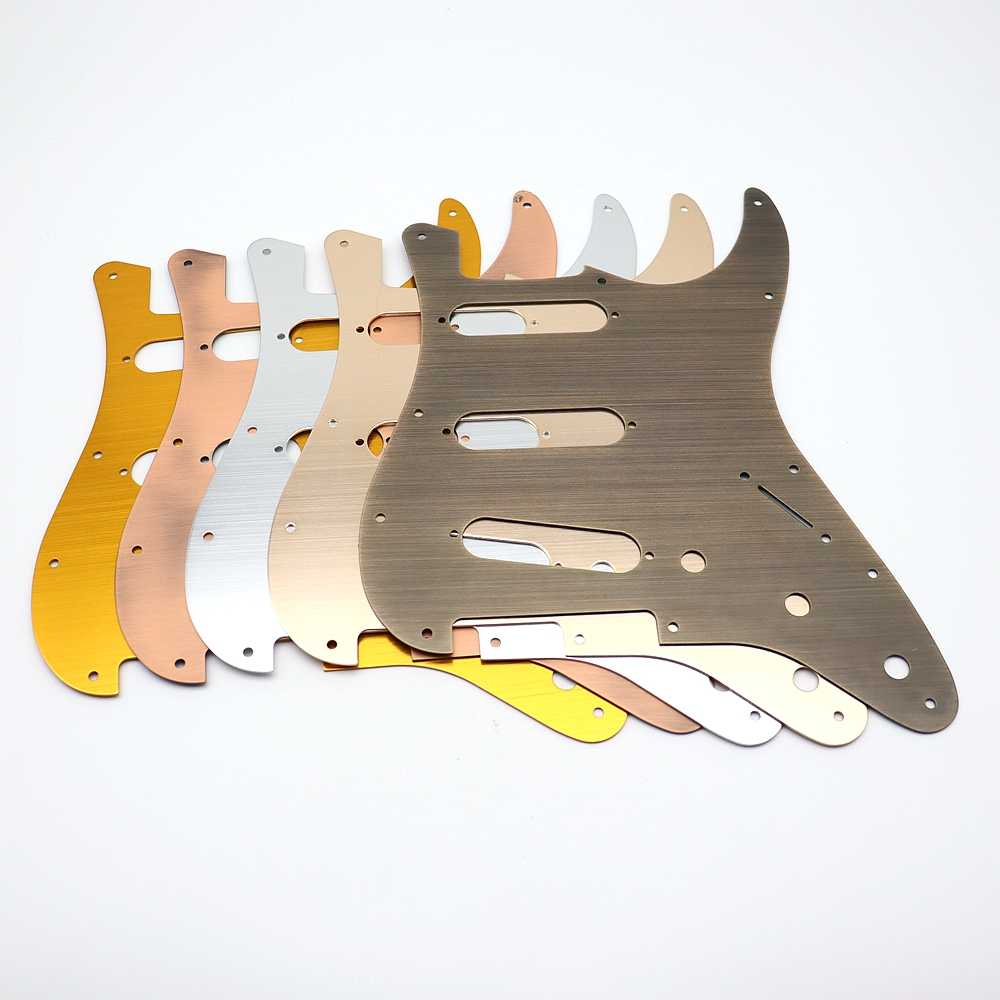 Electric Guitar Metal Pickguard 11 hole SSS Compatible For ST SQ Style  Guitar Parts Replacement 5 Color