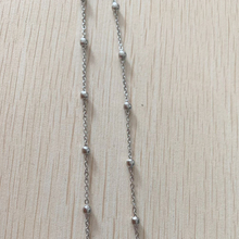 Wholesale sterling silver 925 cross chain plus double bead 9