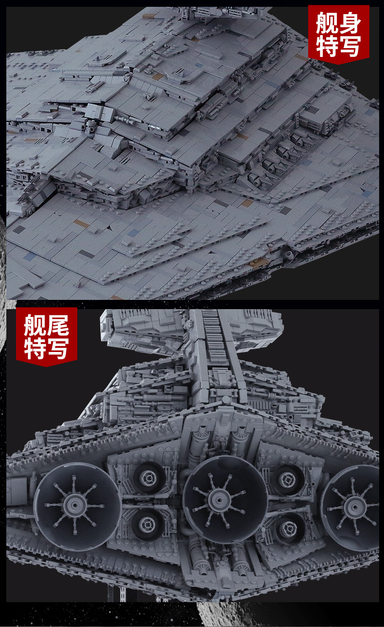 05027 Star Toys Wars The MOC-23556 Imperial Star Destroyer Compatible With Legoing 75252 Kids Christmas Gifts Building Blocks 18