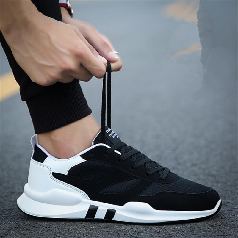 2019 New Spring Autumn Men Lightweight Breathable Non-slip Fashion Mixed Colors Lace up Sneakers Shoes Casual Shoes