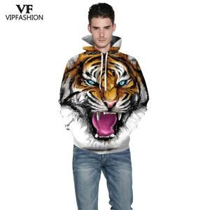Image 3 - VIP FASNHION 2019 Winter Women Men Sweatshirt Streetwear Fashion Digital Tiger Printed Hooded 3D Hoodie Couple Cloth