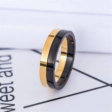 Simple Fashion Jewelry Brand New Titanium steel High Quality Women Wedding Band Ring For Lovers' Gift(China)