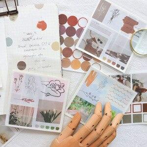Mohamm Handbook Series Kawaii Cute Sticker Custom Stickers Diary Stationery Flakes Scrapbook 4PCS Decorative Stickers(China)