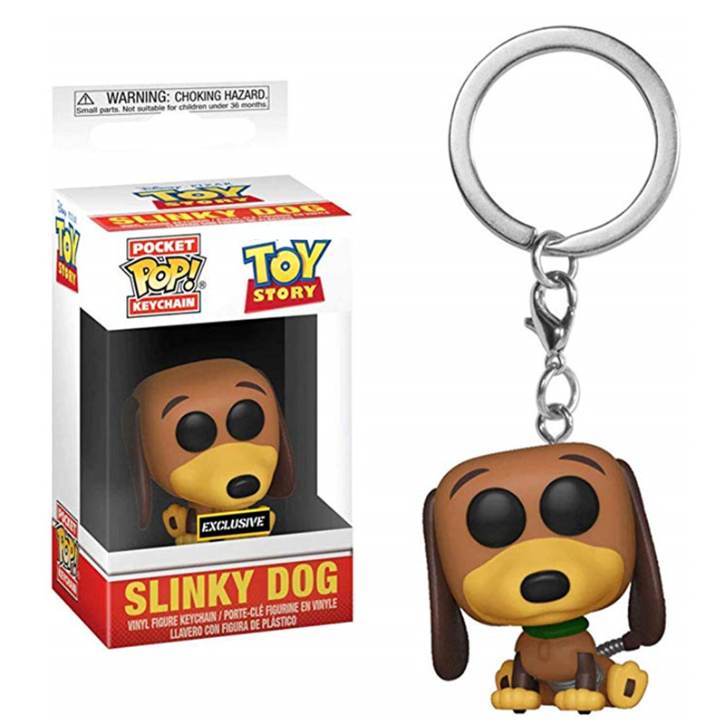 FUNKO POP Toy Story 4 Pocket Pop Keychain Slinky Dog Hot Action Figures Collectible Model Toys For Children Christmas Gifts