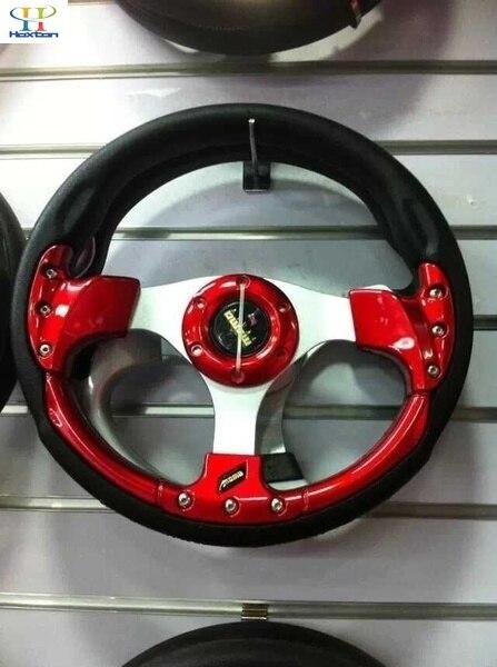 """Universel 13 """"320 MM 5 couleur Sport course dérive volant PU cuir F1 Hub bouton"""