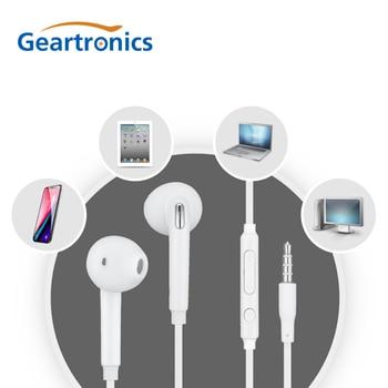 цена на Geartronics 3.5mm Stereo Music Earphones in-ear Portable Earphone Wired In-Ear Headset White with Microphone