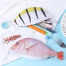 Stationery Pencils-Bags Fish-Shape Creative Gift School-Supplies Korea-Style Cute Cloth