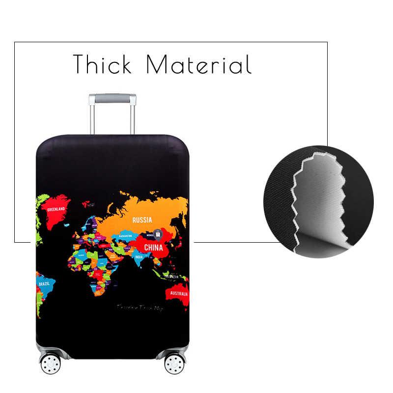 Геометрические фиолетовые плотные эластичные Чехлы для багажа, защитный чехол, багажная сумка на колесиках, дорожная сумка, 999