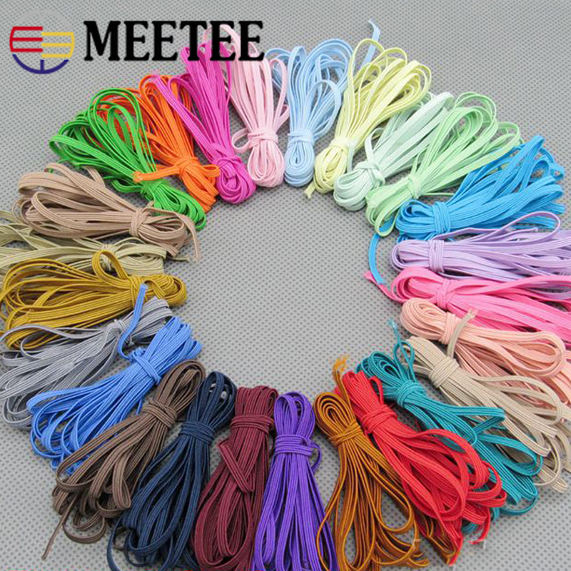 10/20Meters 3mm Elastic Bands Elastic Rope Headwear Rubber Band Ribbons Sewing Webbing Tapes Waist Belt DIY Garment Accessories