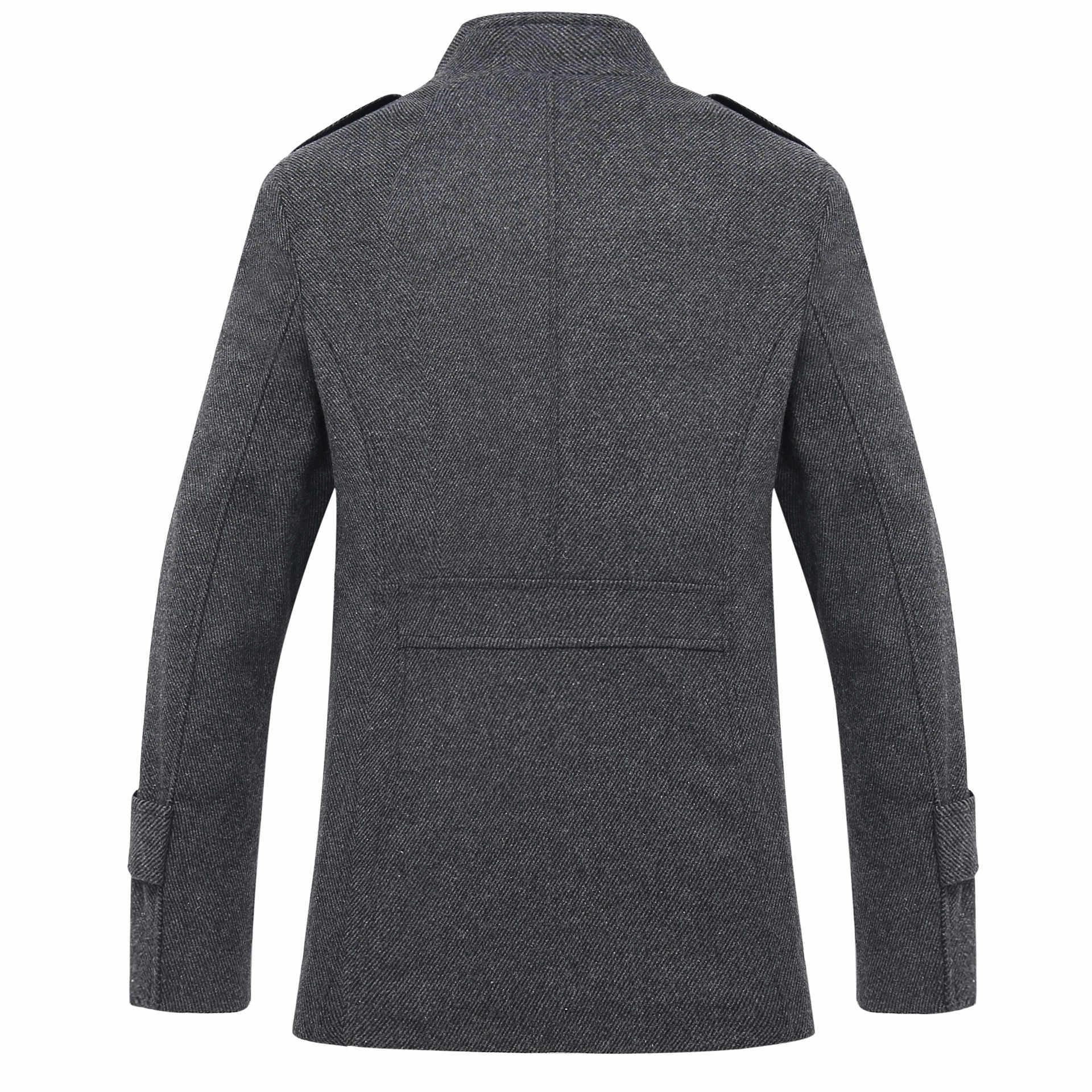 Шерстяное пальто для мужчин, бренд 2020, Мужской однобортный Тренч, повседневное тонкое пальто с отложным воротником, пальто, куртки, манто для мужчин размера плюс