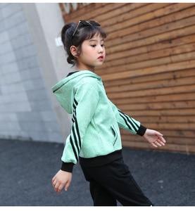 Image 5 - Çocuk giyim setleri pamuk sonbahar kırmızı spor takımları için 5 6 7 8 9 10 11 12 yaşında kızlar spor rahat koyu eşofman