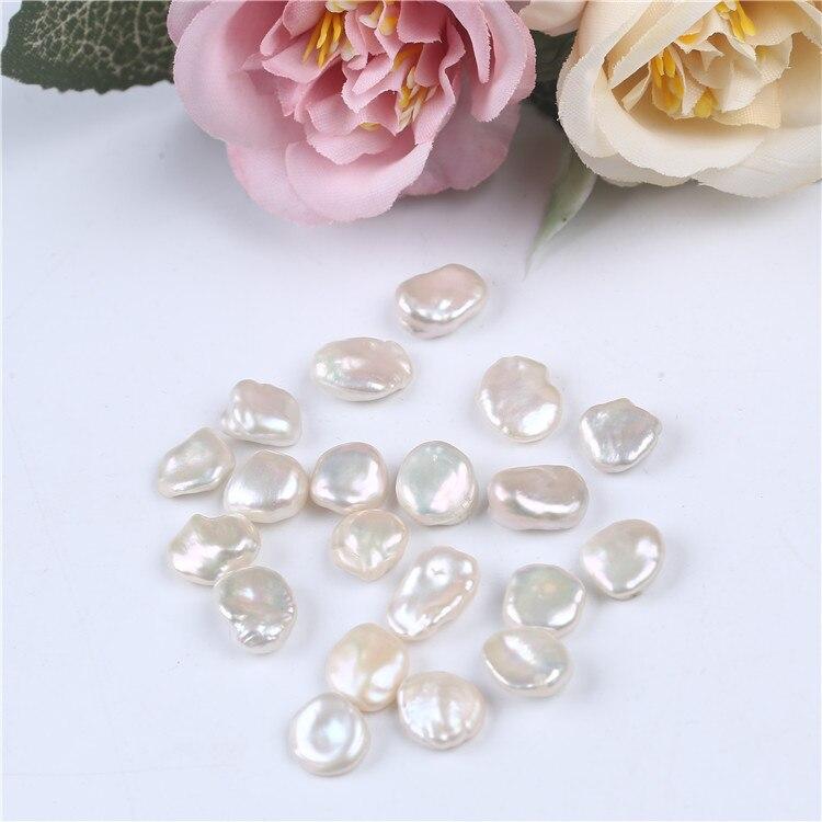 Keshi-perlas de agua dulce de 7-8mm, cuentas sueltas de forma irregular, fabricación de joyas DIY