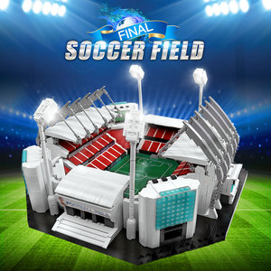 Image 2 - 4654 sztuk klocki kreatywne zabawki stare tradifficates Manchesters boisko do piłki nożnej Model cegły zabawki edukacyjne dla dzieci urodziny prezenty