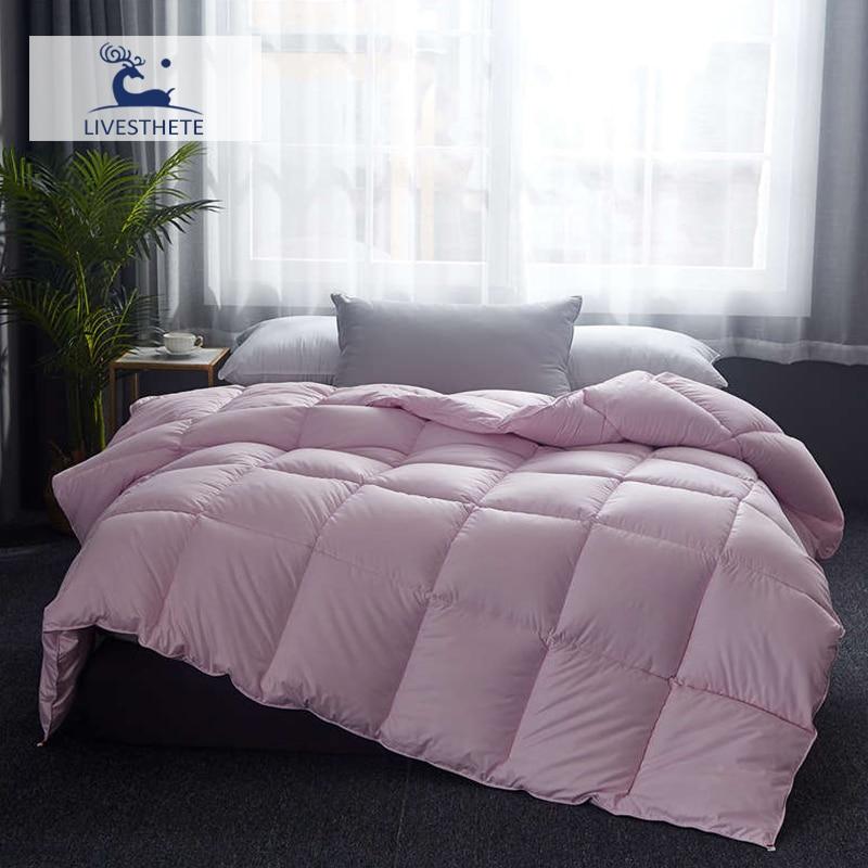 Liv-Esthete Luxury High Grade 100% Silk Pink Comforters Filled Duvets Bedding Double Queen King Healthy Skin Duvet Quilts