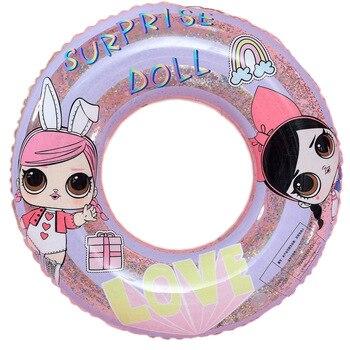Rooxin nadmuchiwany gumowy pierścień dla dziewczynek 2-14 lat pływający w basenie obręcz do pływania dla dziecka koło do pływania pływanie koło impreza przy basenie zabawki