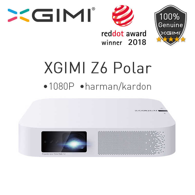 Xgimi Z6 Polar Mini DLP Full HD Proyektor 1080P Home Theater 4K 700 ANSI 3D Android WIFI Bluetooth LED Proyektor Smart Beamer