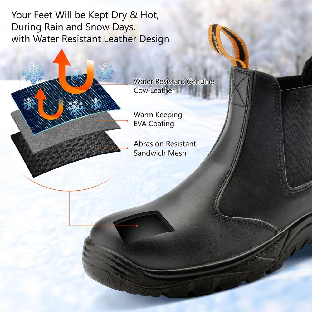 Chaussures de sécurité Safetoe S3 avec embout en acier, bottes de sécurité légères avec cuir imperméable pour hommes et femmes botas hombre - 2