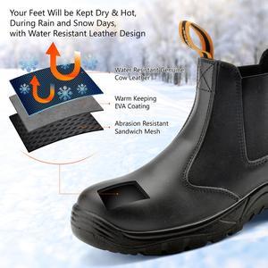 Image 2 - Safetoe S3 Veiligheidsschoenen met Stalen Neus, licht Gewicht Werk Veiligheid Laarzen met Waterdichte Leer voor Mannen en Vrouwen botas hombre