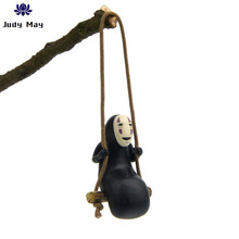 цены Studio Ghibli Spirited Away No Face Man Figures Toys Miyazaki Hayao Swing No Face Man Creativity Action Figure Model Decoration