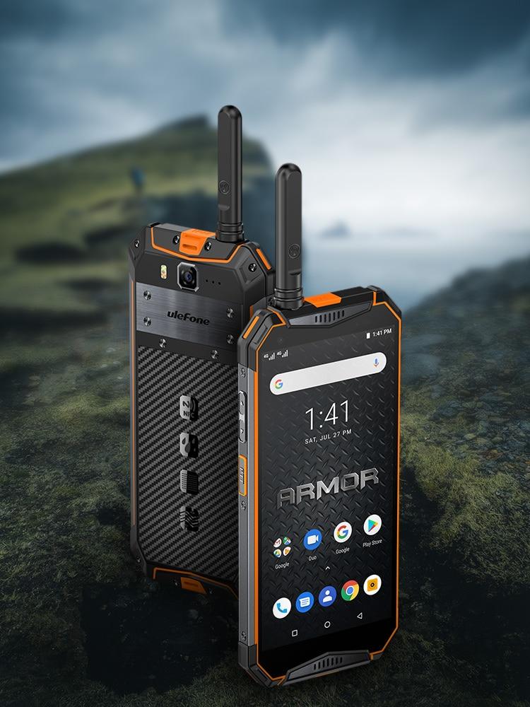 Ulefone Armor 3WT Walkie-Talkie 64GB 6GB WCDMA/LTE/CDMA2000/.. NFC Adaptive Fast Charge