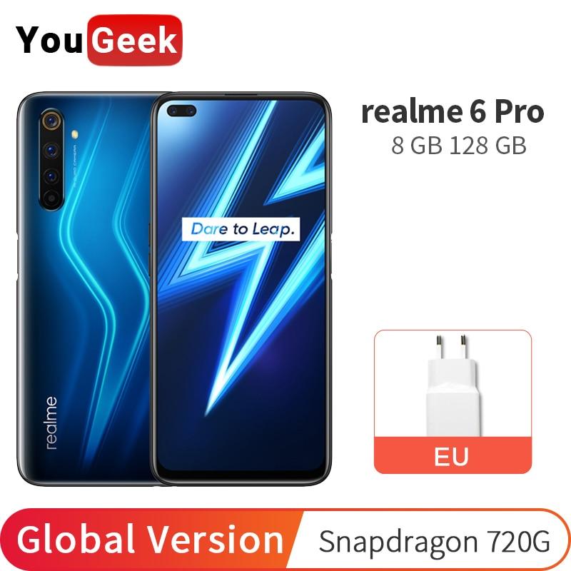 realme 6 Pro Global Version 8GB 128GB Mobile Phone 6.6'' 90Hz Fullscreen Snapdragon 720G Octa Core 64MP AI Quad Camera 4300mAh Cellphones  - AliExpress