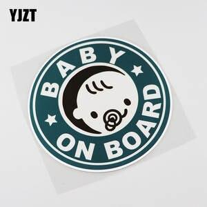 YJZT 14.6CMX14.6CM Baby ON Board Pvc Decal Bumper Car Sticker 13A-0057