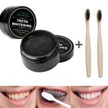 Branqueamento dental de carvão natural, creme dental 30g para clareamento dos dentes, higiene bucal natural de carvão ativado