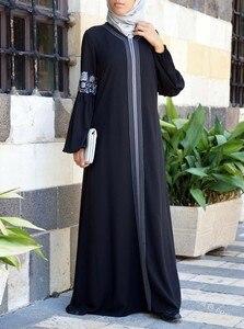 Image 3 - Dubai abaya turkish bangladesh woman abaya jilbab femme musulman muslim abaya dress islamic clothes caftan marocain kaftan